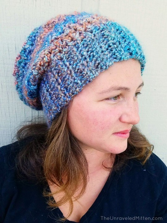 Color Tour Slouchy Hat Free Crochet Pattern