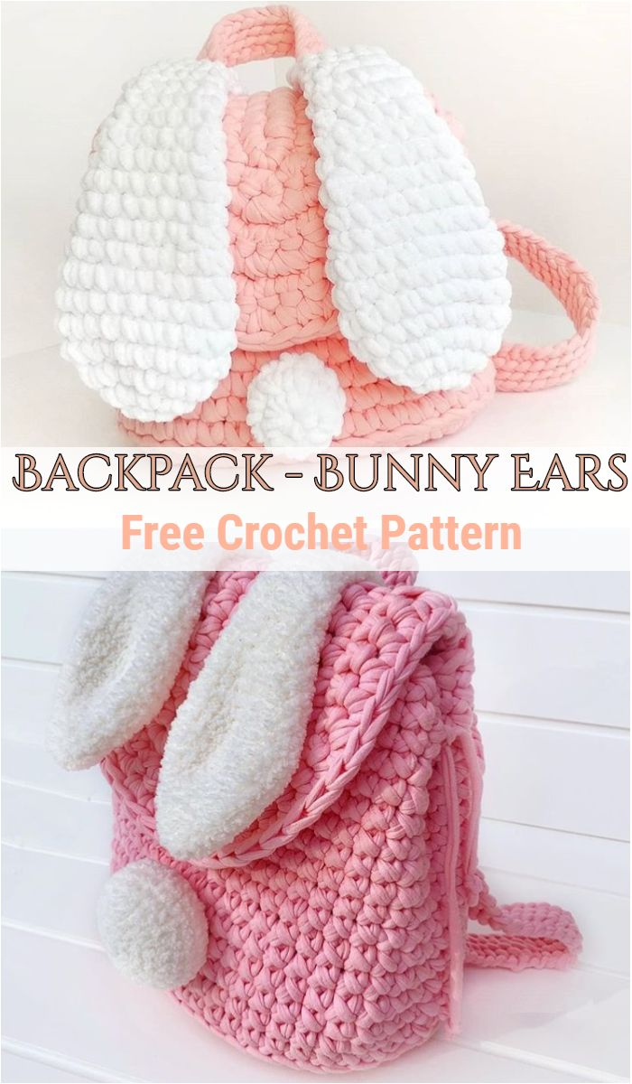 Crochet Backpack – Bunny Ears