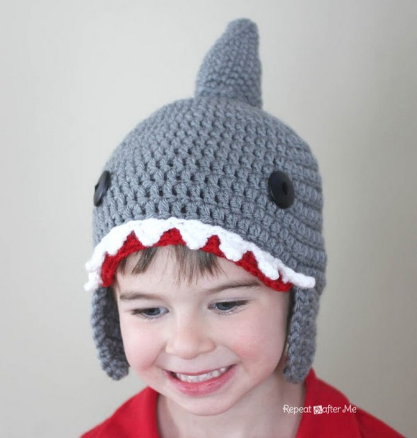 Crochet Shark Hat Pattern