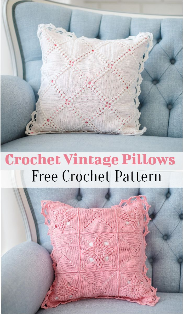 Crochet Vintage Pillows