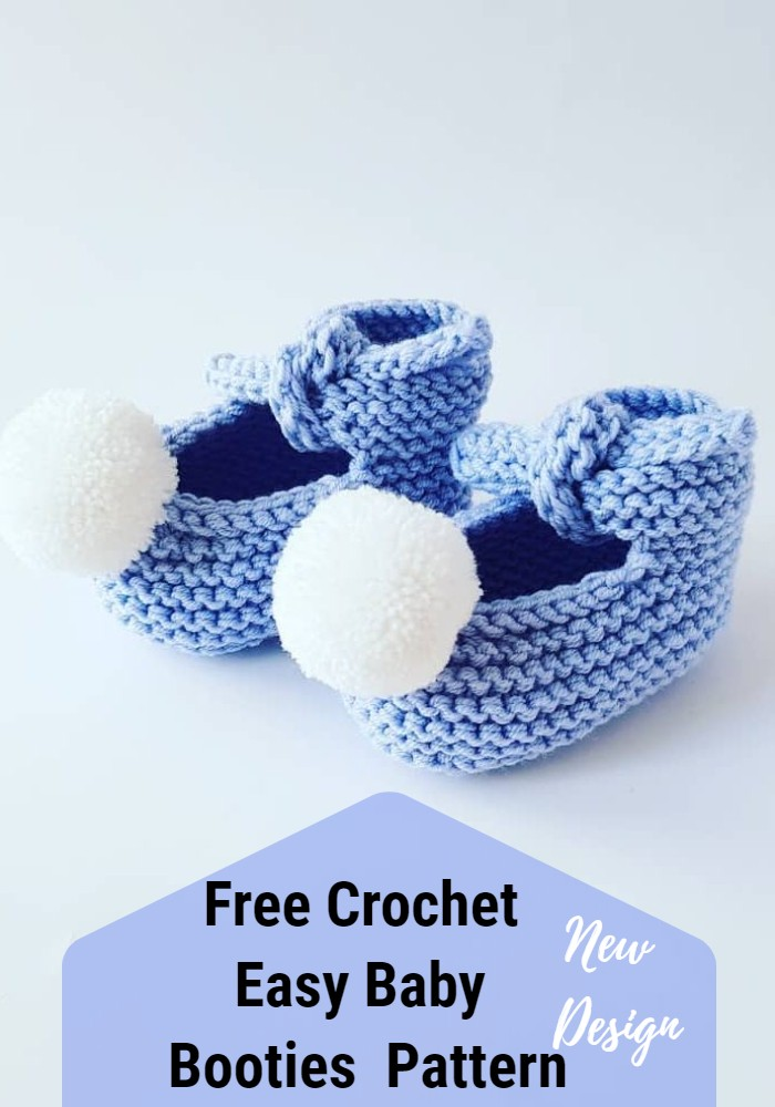 FREE Pattern Crochet & Easy Baby Booties