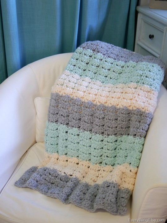 Easy Crochet Shell Stitch Pattern