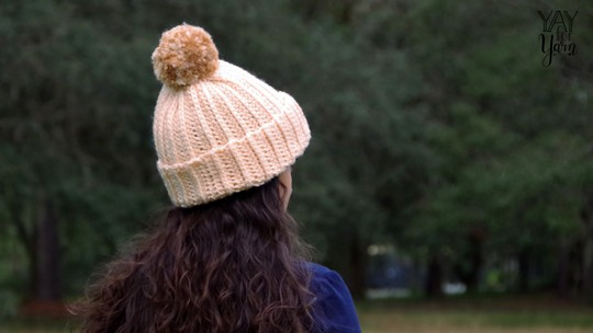 Knit-Look Crochet Hat