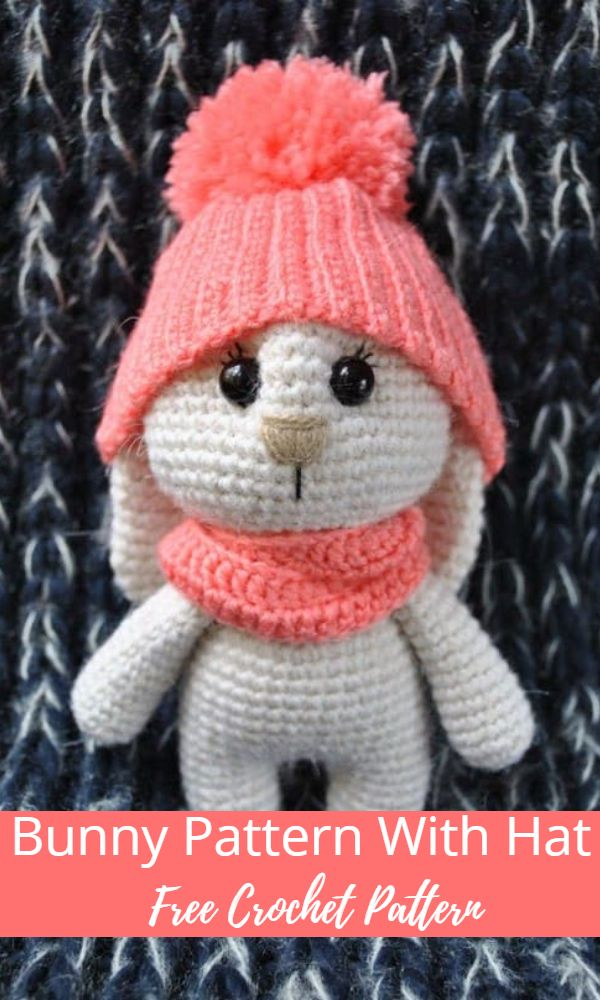 Adorable Bunny Amigurumi Pattern With Hat