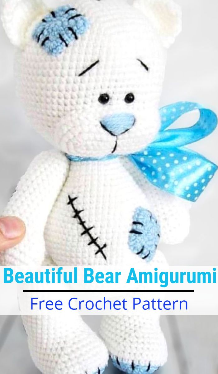 Free Teddy Bear crochet pattern - Amigurumi Today | 1200x700