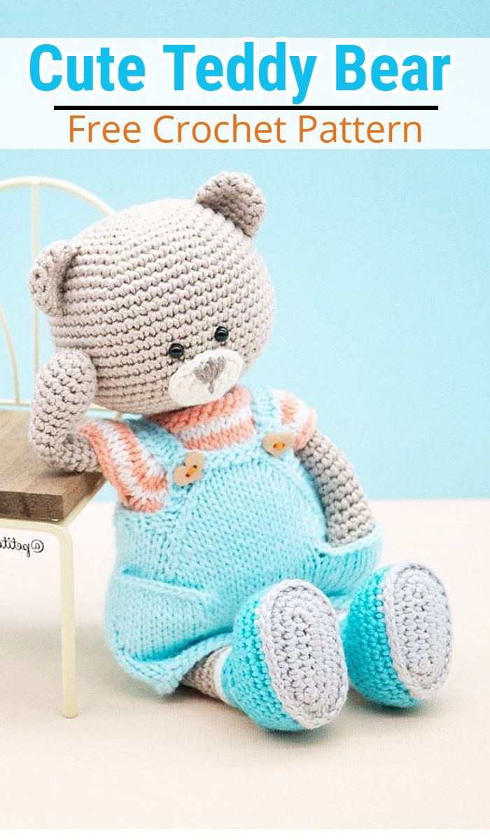 Amigurumi Cute Bear Free Pattern | 1200x700