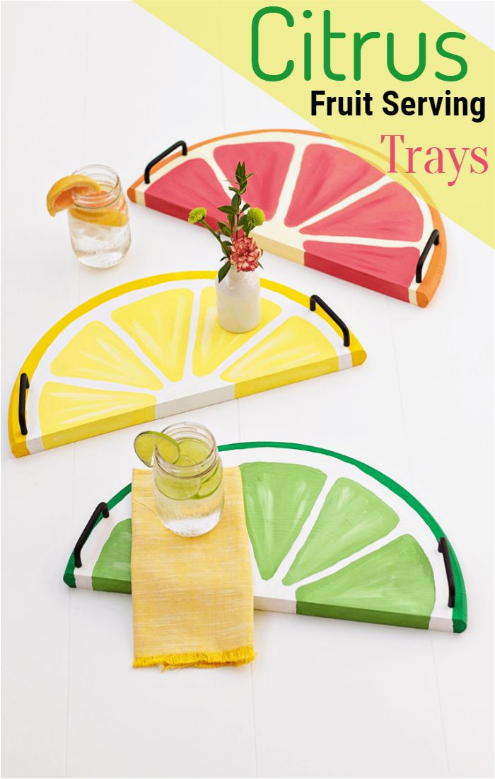 Citrus Fruit Serving Trays