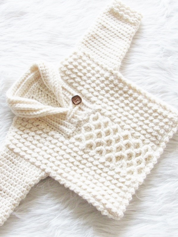 Crochet Baby Boy Sweater Pattern