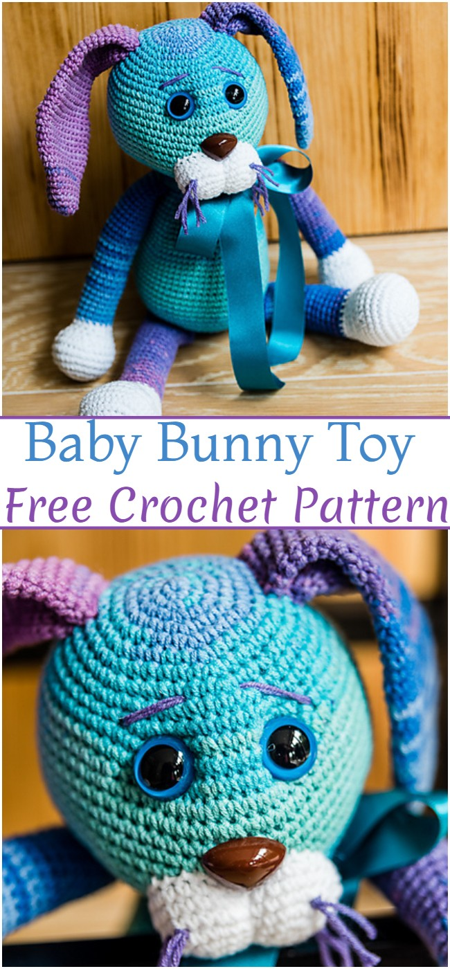Crochet Baby Bunny Toy Pattern