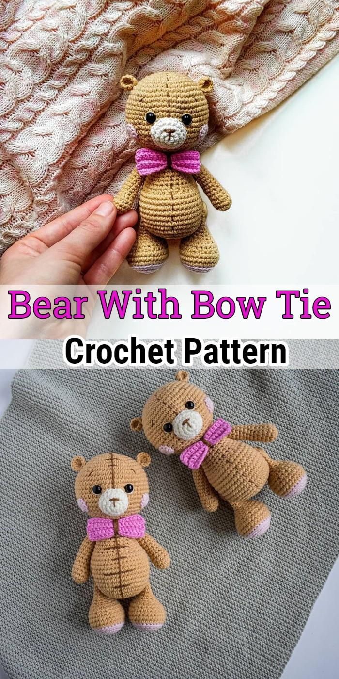 Crochet Bear With Bow Tie