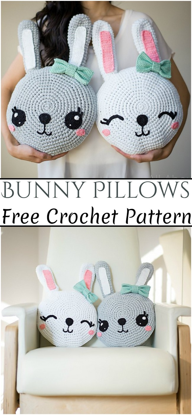 Crochet Bunny Pillows Pattern