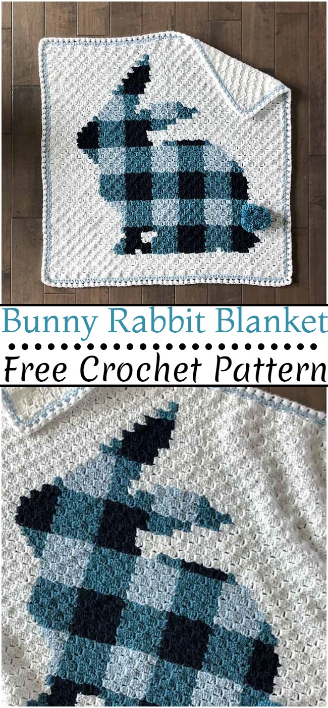 Crochet Bunny Rabbit Blanket Pattern