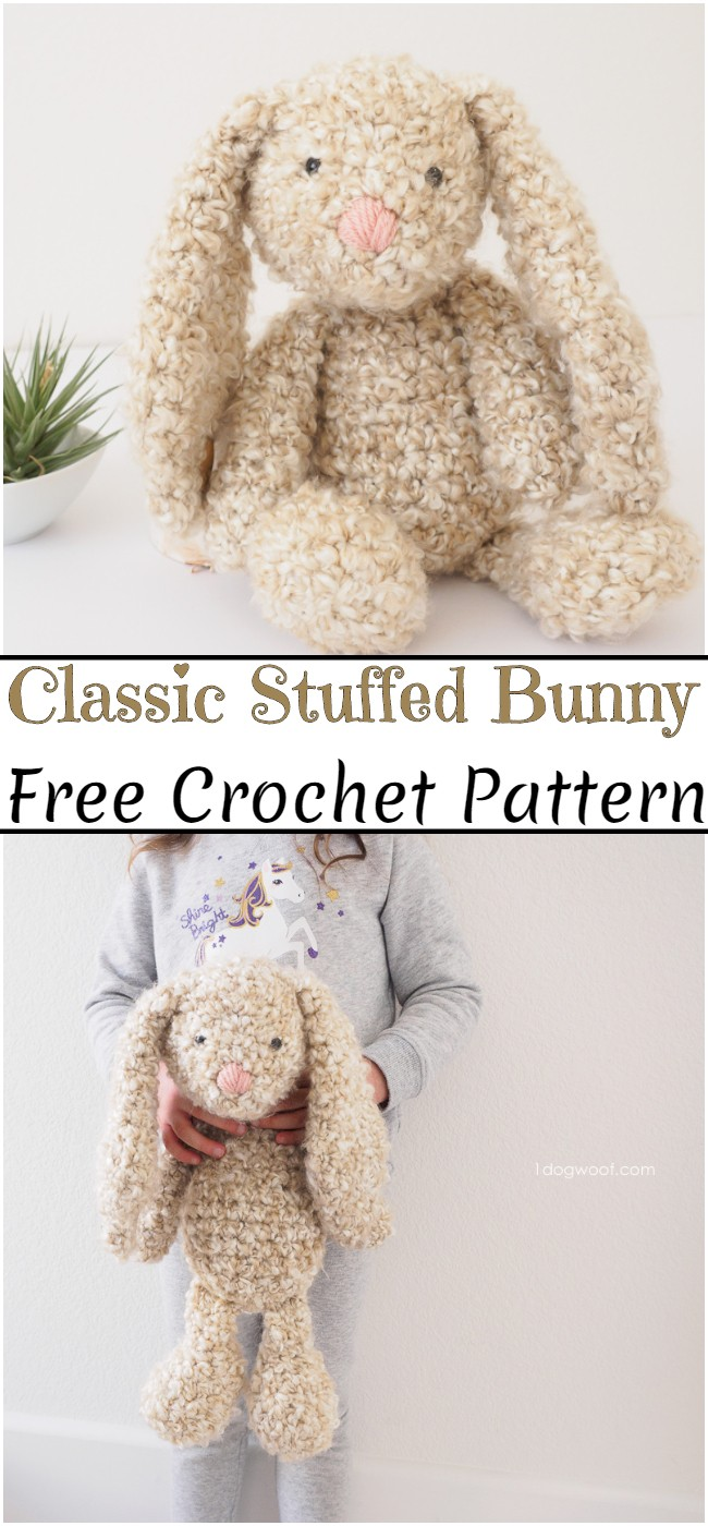 Crochet Classic Stuffed Bunny Pattern