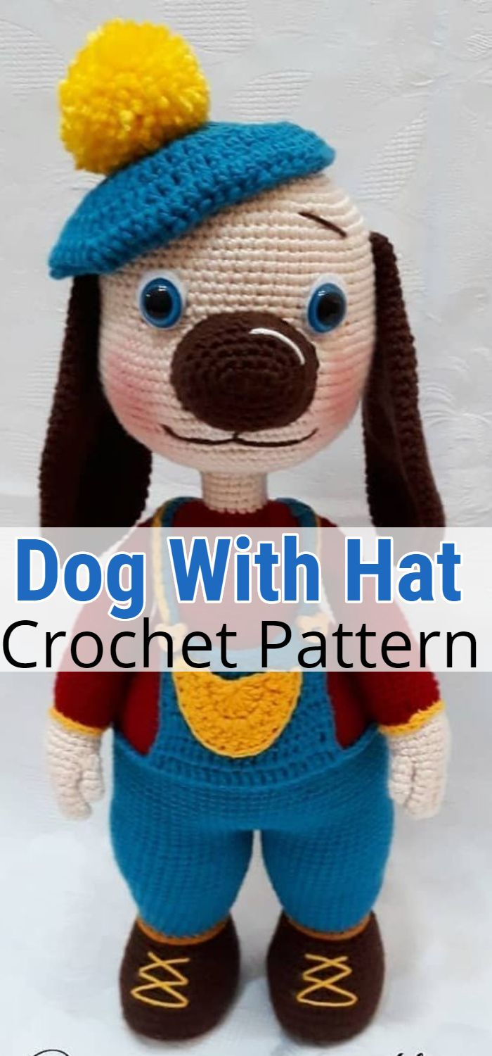 Crochet Dog With Hat