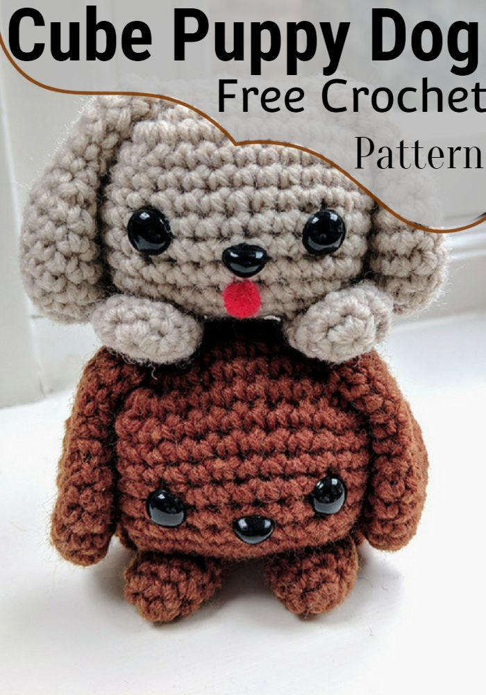 Cube Puppy Dog Free Crochet Pattern