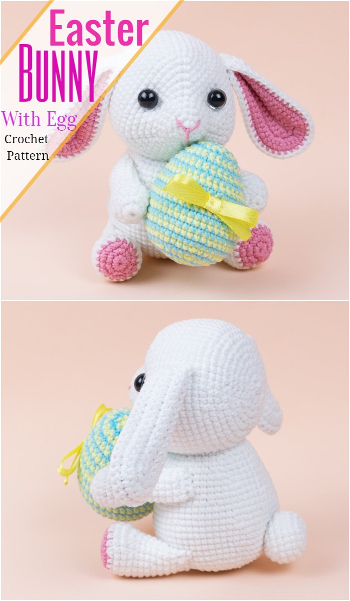 Easter Bunny With Egg Crochet Pattern