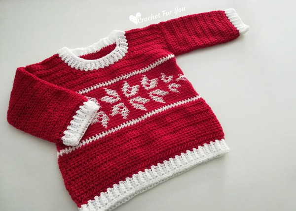 Free Crochet Pattern for a Winter Snowflake Baby Sweater Read more at https://www.crochetkingdom.com/free-crochet-pattern-for-a-winter-snowflake-baby-sweater/#tcsyCYhP7b4hGSs3.99