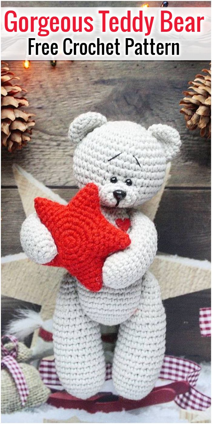 Gorgeous Free Crochet Teddy Bear Pattern