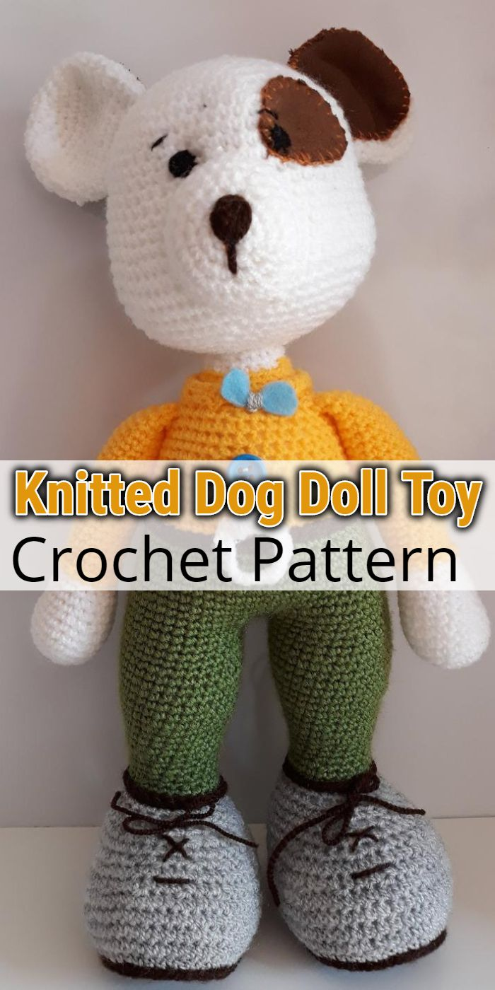Knitted Dog Doll Toy