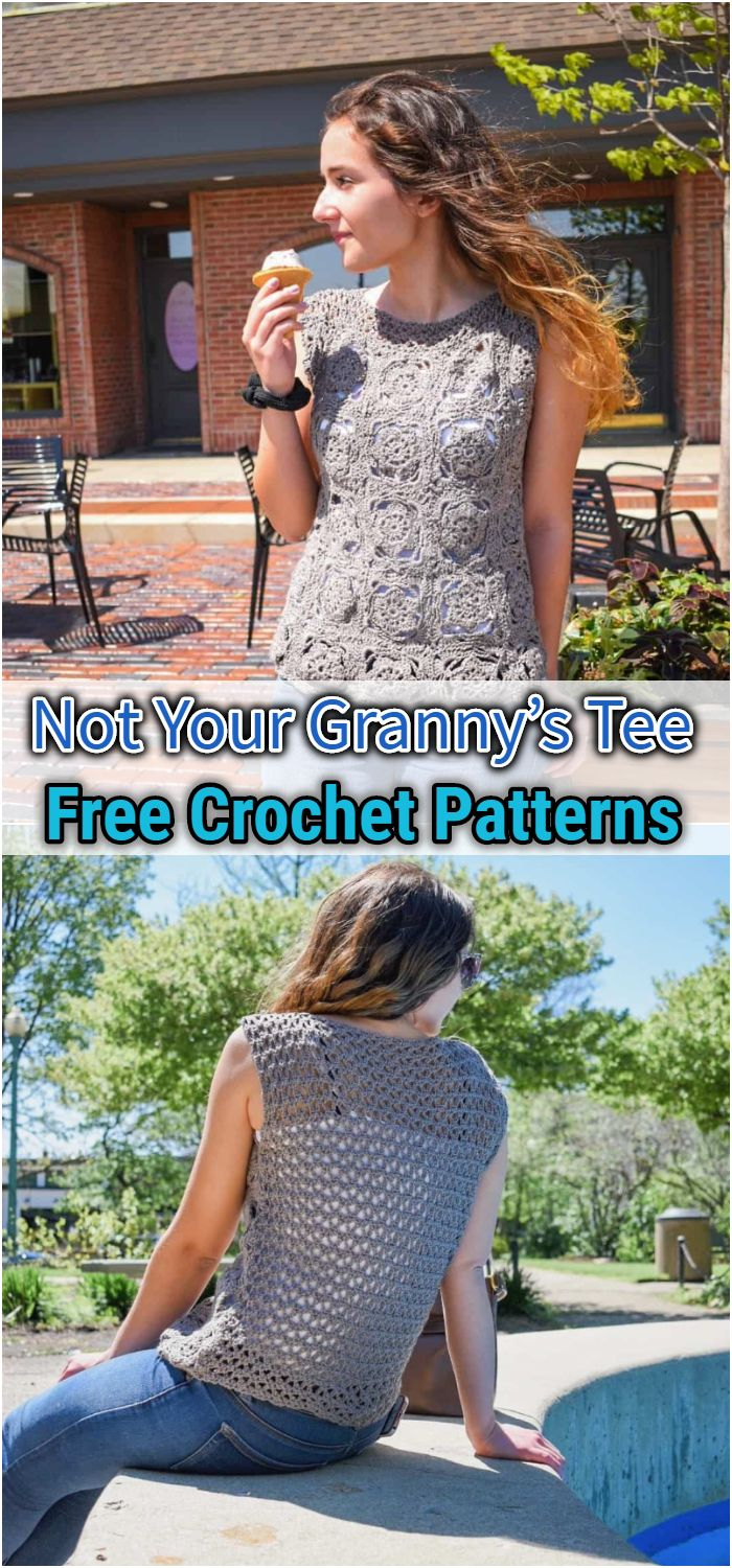 Not Your Granny's Tee – FREE Crochet Pattern
