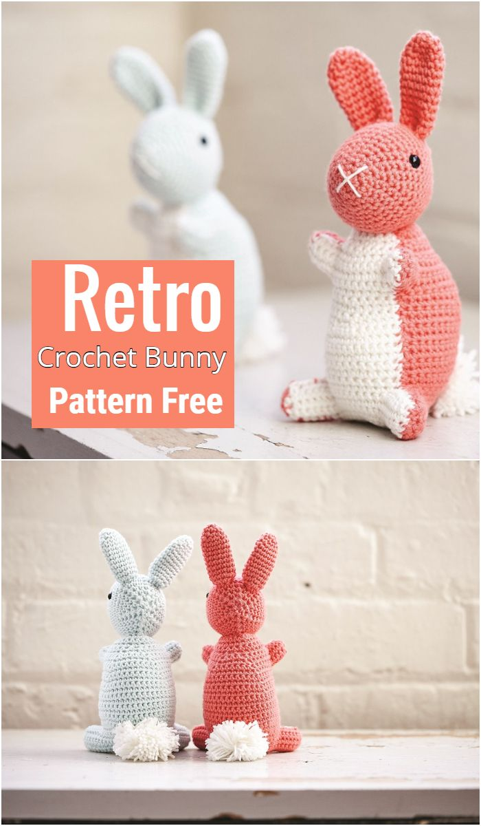 Retro Crochet Bunny Pattern