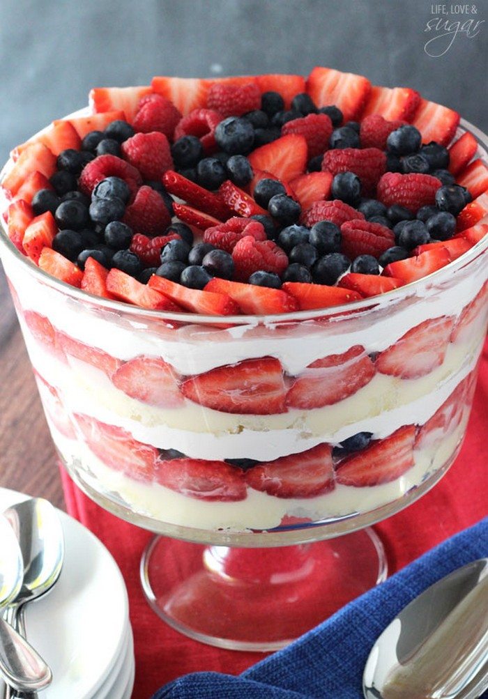 Triple Berry Trifle Recipe