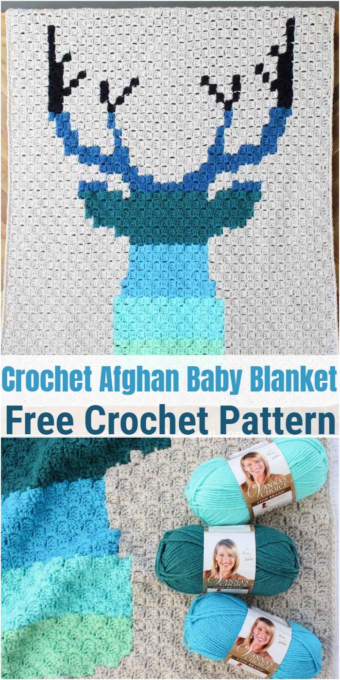 Corner To Corner Crochet Afghan Baby Blanket – Free C2C Pattern