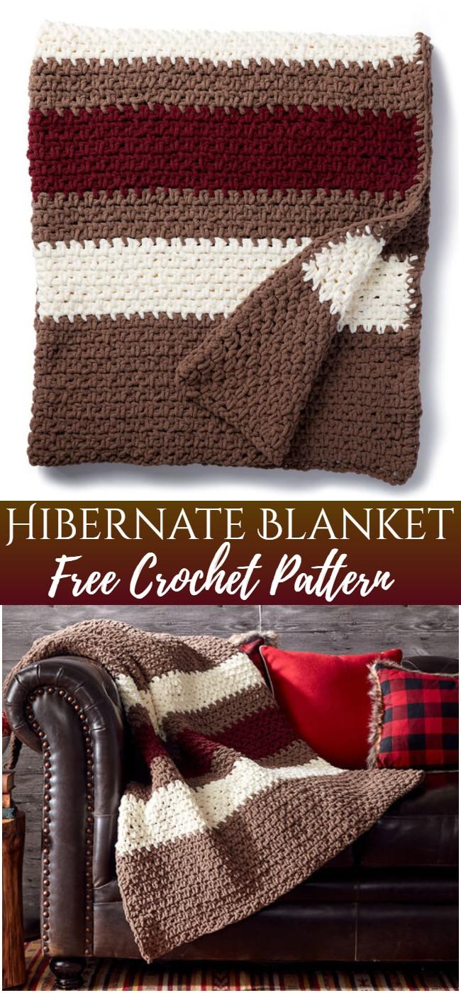 Crochet Hibernate Blanket Pattern