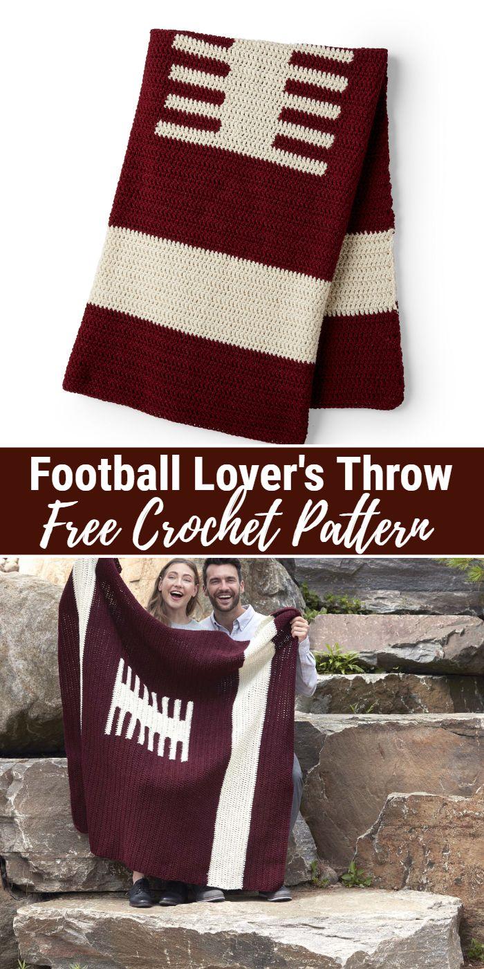 Football Lover's Crochet Throw