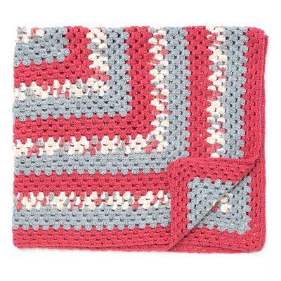 Free Crochet Big Granny Baby Blanket Pattern