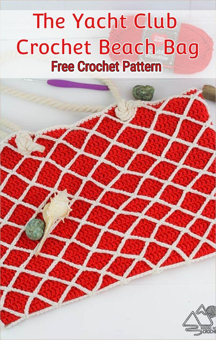 The Yacht Club Crochet Beach Bag