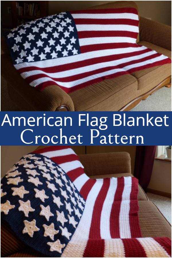 American Flag Crochet Blanket Pattern