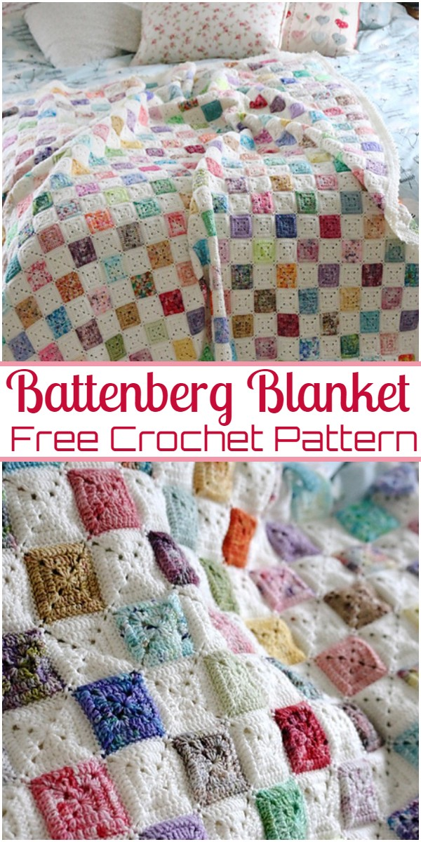 Battenberg Crochet Blanket Pattern