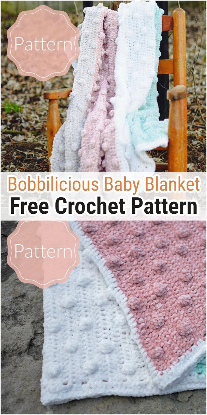 Bobbilicious Baby Blanket Free Crochet Pattern