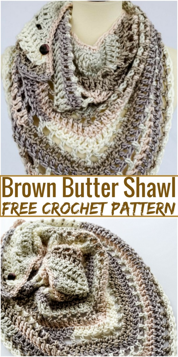 Brown Butter Crochet Shawl Pattern