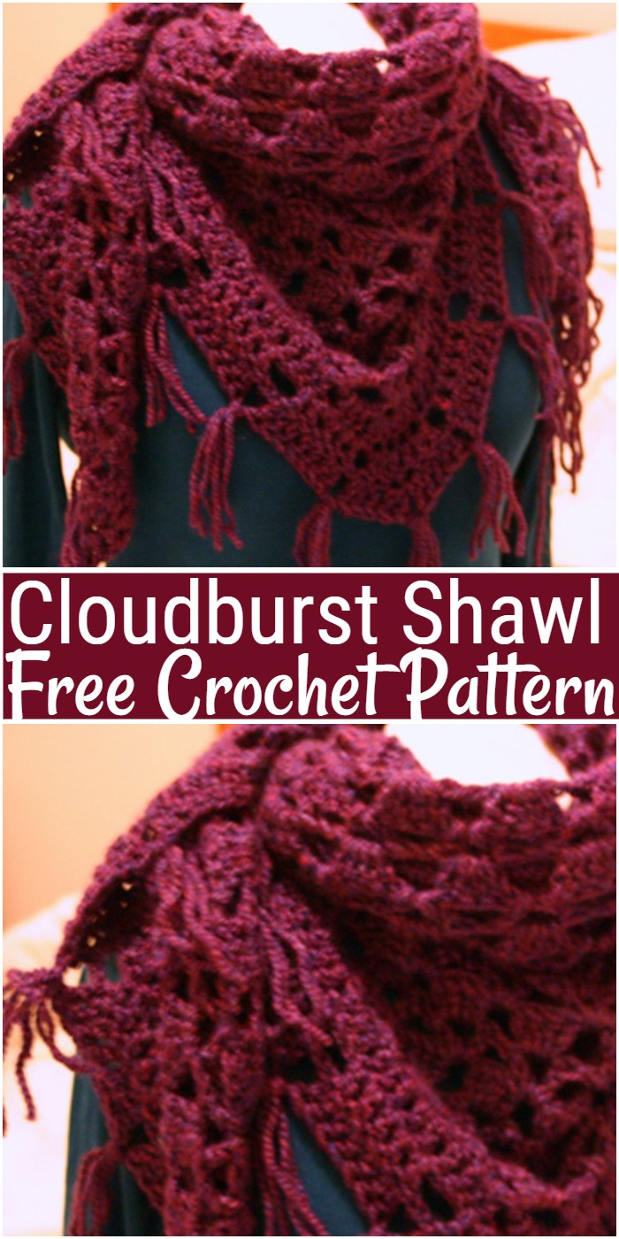 Cloudburst Crochet Shawl Pattern