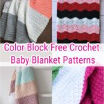 Color Block Free Crochet Baby Blanket Patterns