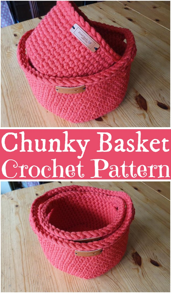 Crochet Chunky Basket Pattern