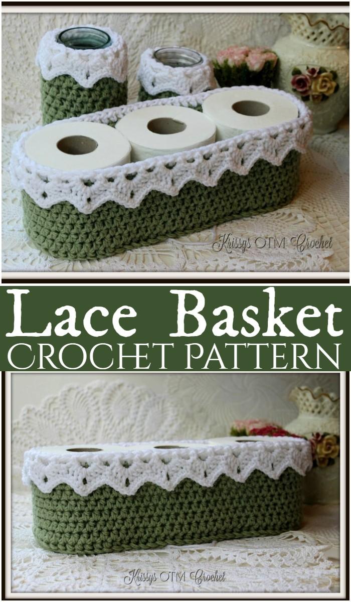 Crochet Lace Basket Pattern