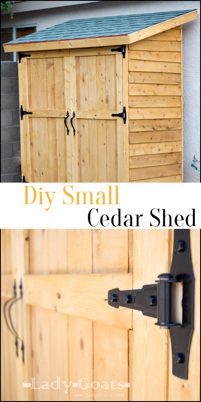 Diy Small Cedar Shed