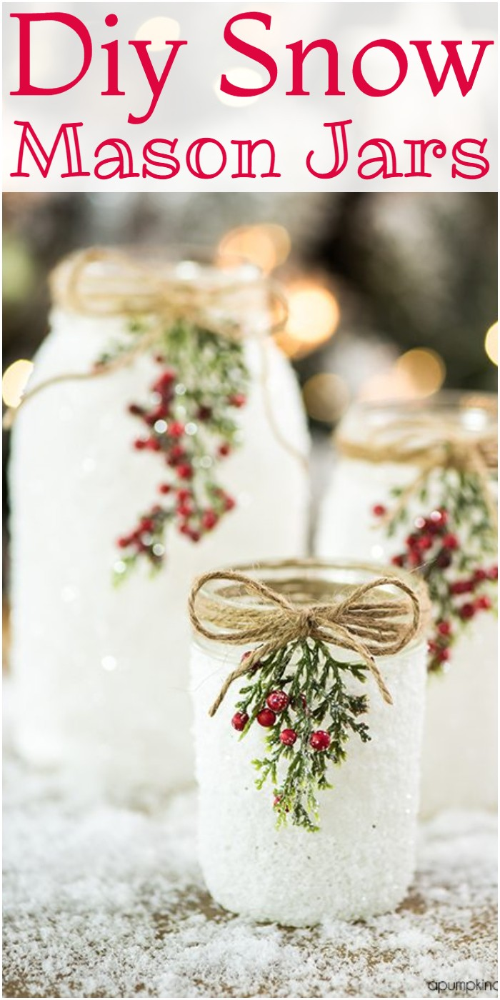 Diy Snow Mason Jars