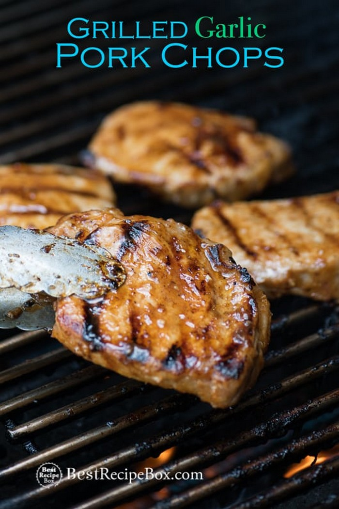 Grilled Garlic Pork Chops Recipe