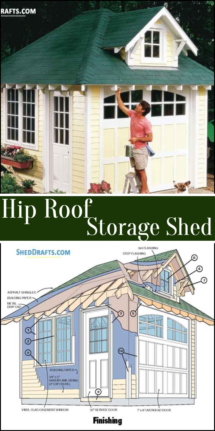 Hip Roof Storage Shed