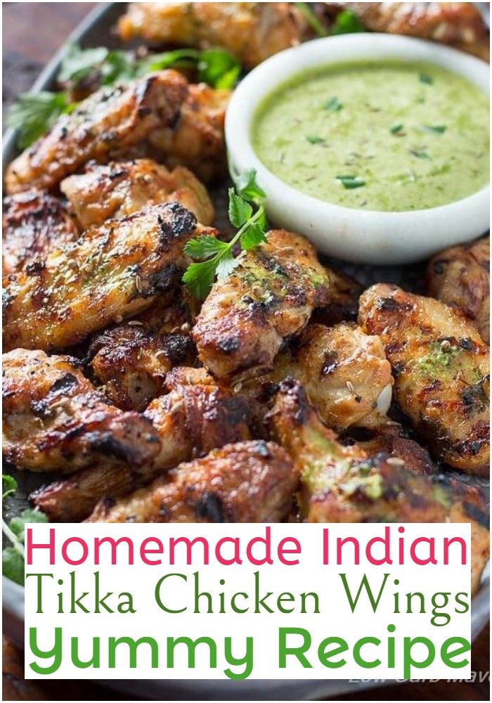 Homemade Indian Tikka Chicken Wings Yummy Recipe