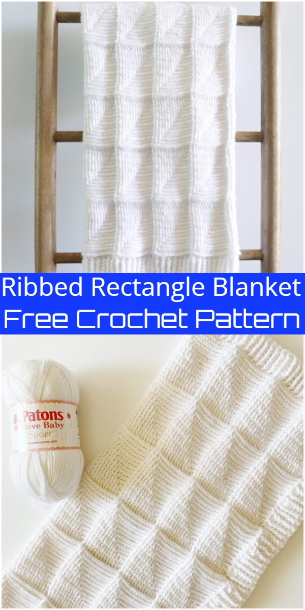 Ribbed Rectangle Crochet Blanket Pattern