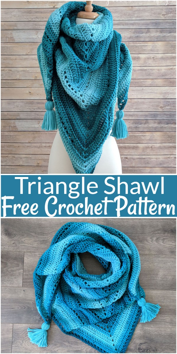 Triangle Crochet Shawl Pattern