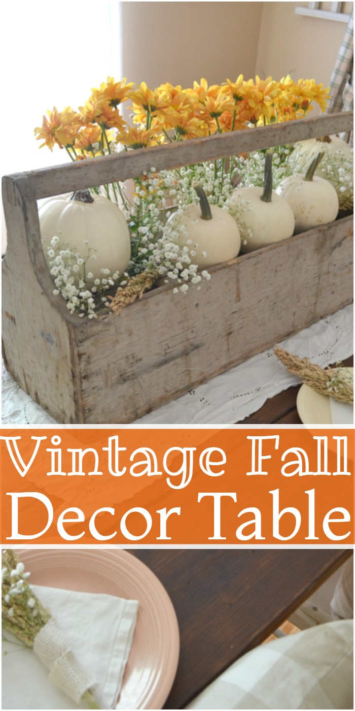 Vintage Fall Decor Table