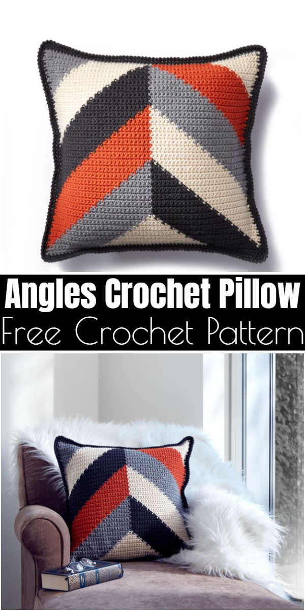 Angles Crochet Pillow