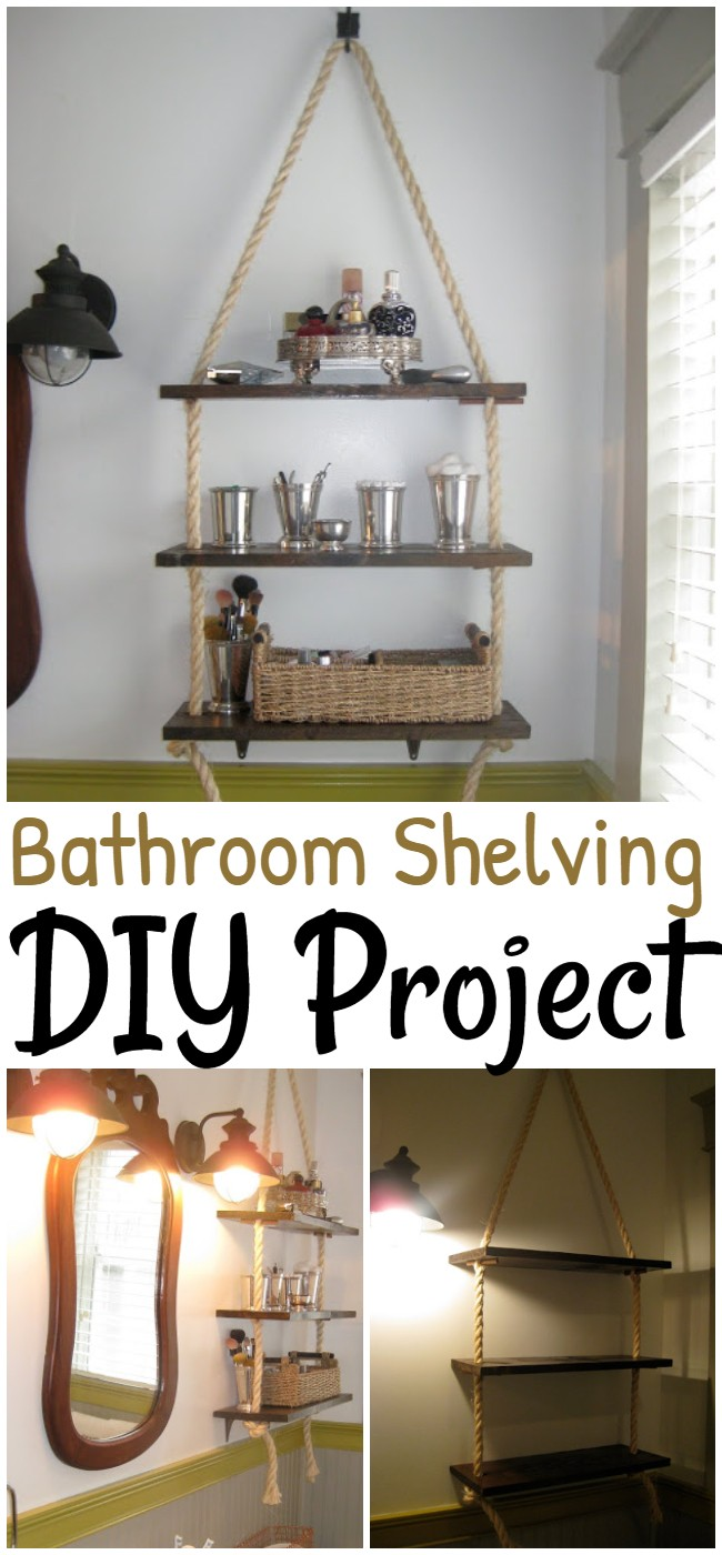 Bathroom Shelving DIY Project