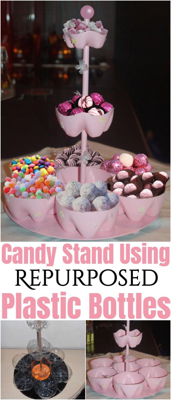 Candy Stand Using Repurposed Plastic Bottles